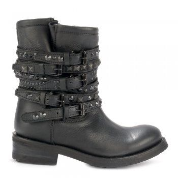 Ash TEMPT black studded biker boots