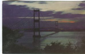 Unknown Postcard, The Severn Bridge by Night, PT11142