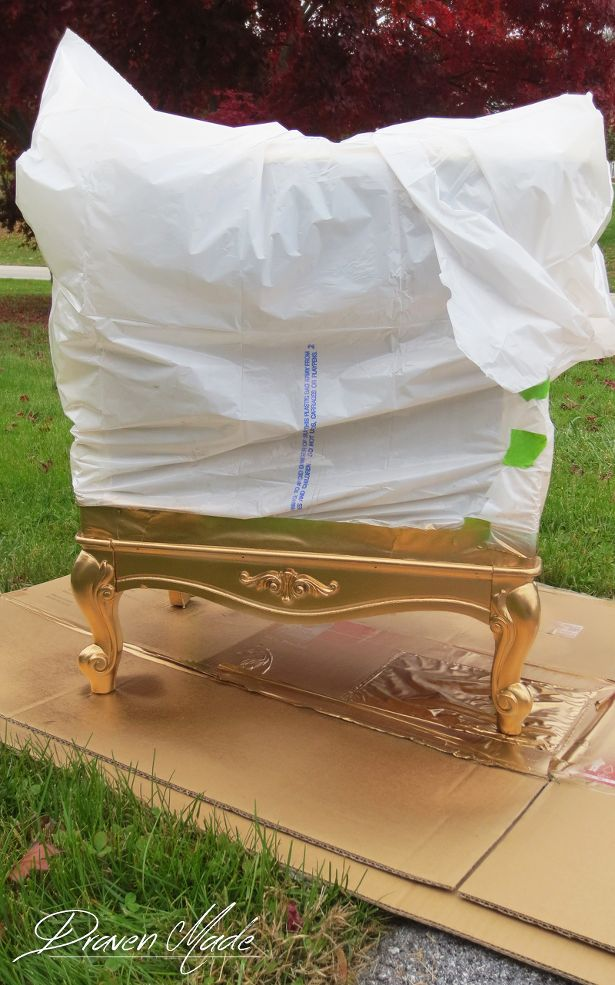 Hometalk :: Gold-Dipped Legs on Side Tables