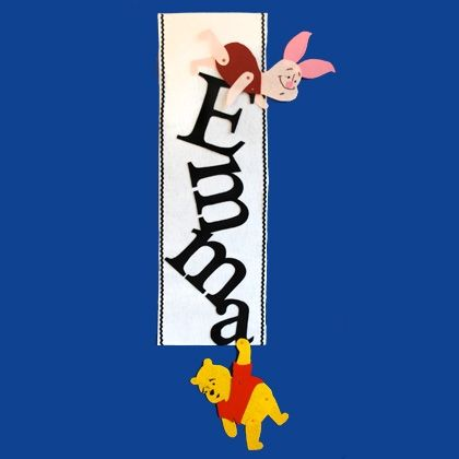 Pooh's Letter Ladder Wall Hanging
