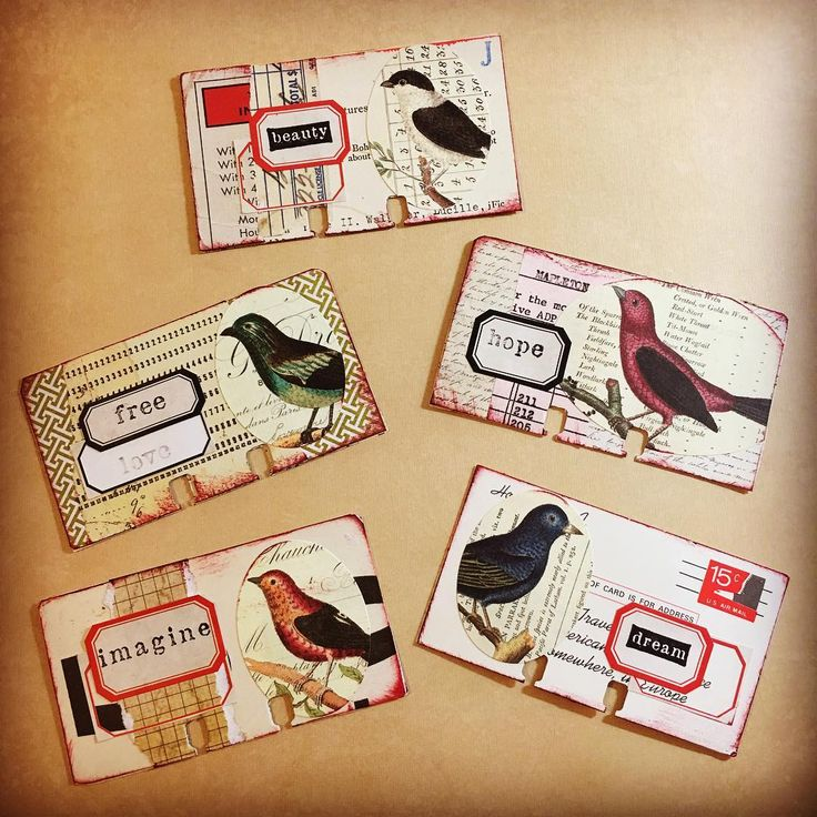 Bird Rollies. #cavallini #birds #rolodex #rolodexartcard
