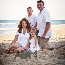White shirts and khaki shorts on the beach was fun but a beach isn't always available for a family portrait. :) @jcpenney