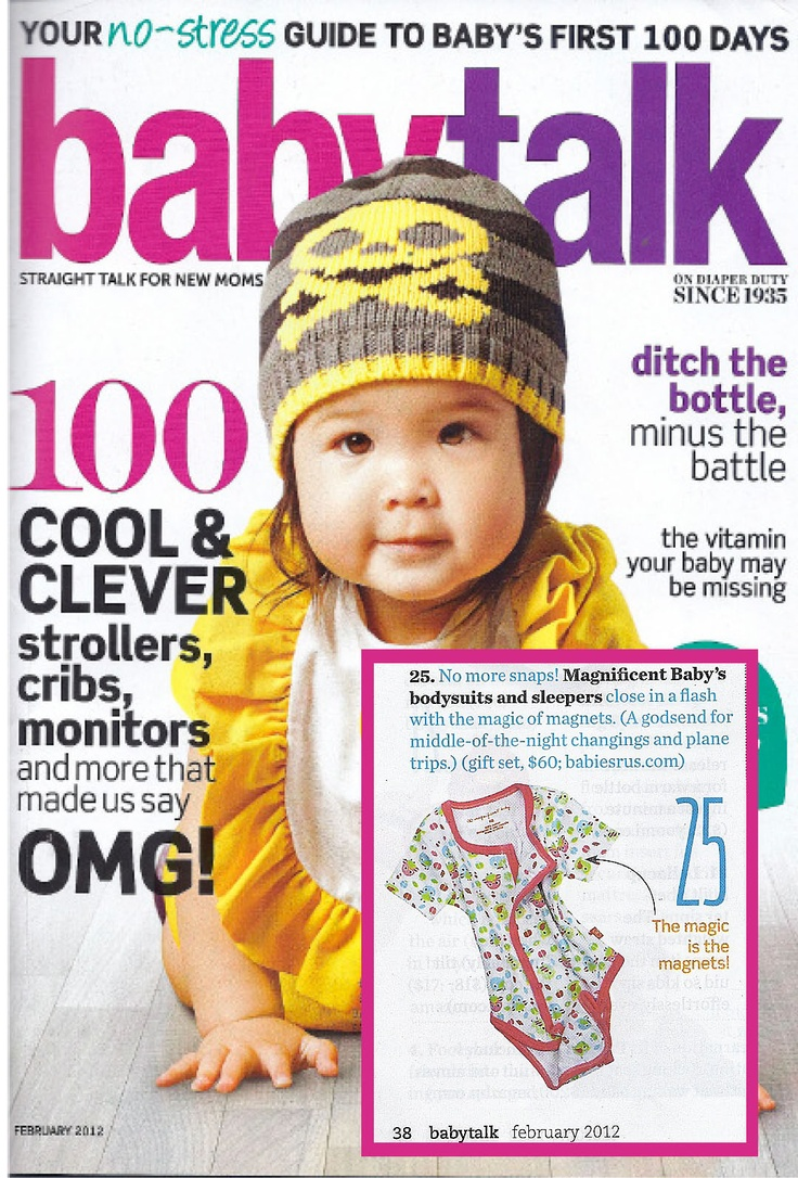 Magnificent Baby features in BabyTalk - February 2012
