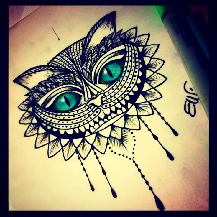 Stregatto! By Erika wonderland tattoo