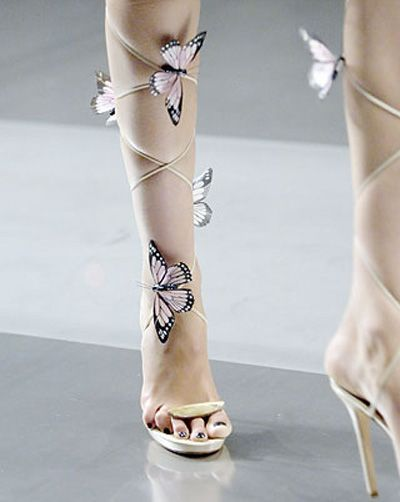alexander mcqueen butterfly heels <3