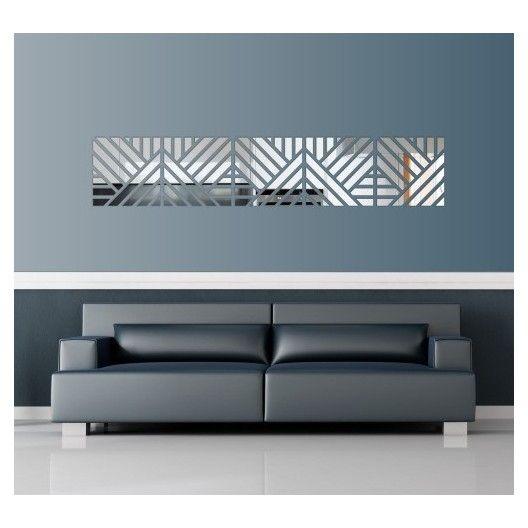Dekoračné nalepovacie zrkadlá v modernom dizajne
