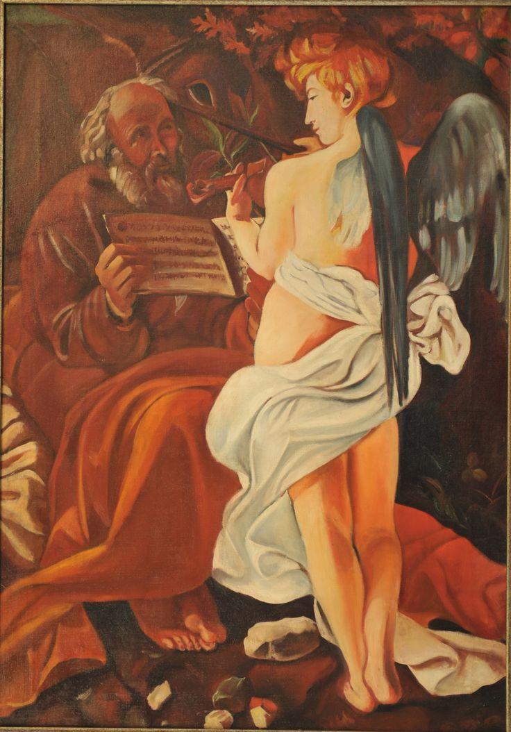 copia de Caravaggio, oleo sobre tela