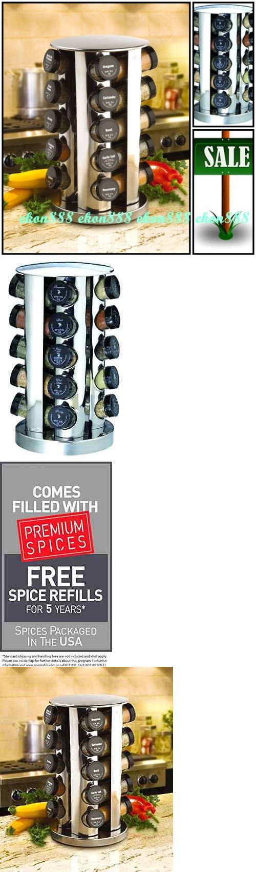 Spice Jars and Racks 20646: Rotating Spice Rack Jar Tower Carousel Organizer Herb Salt Cooking Canister Hold -> BUY IT NOW ONLY: $45.91 on eBay!