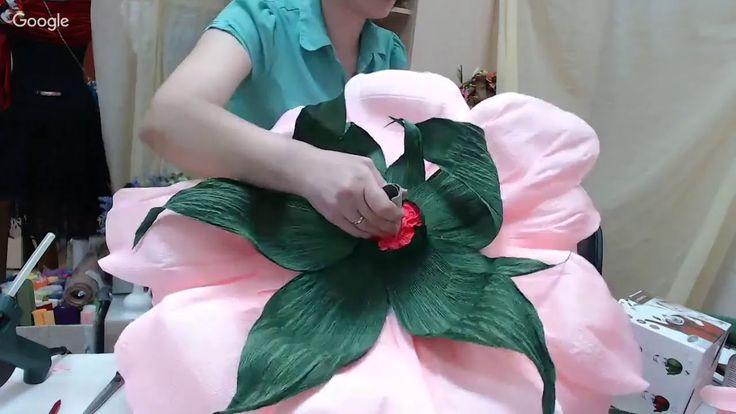 Бесплатный мастер-класс «Большие бумажные цветы. Пион». Аксессуары для ф...
