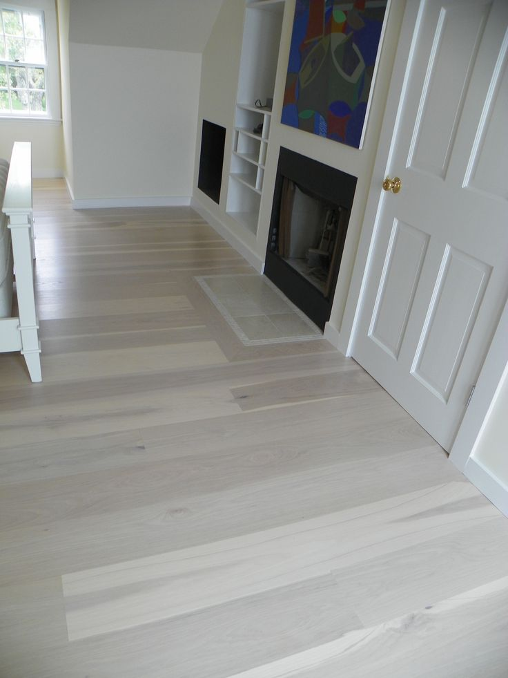 White wash hickory hickory flooring pinterest pine White washed wood flooring