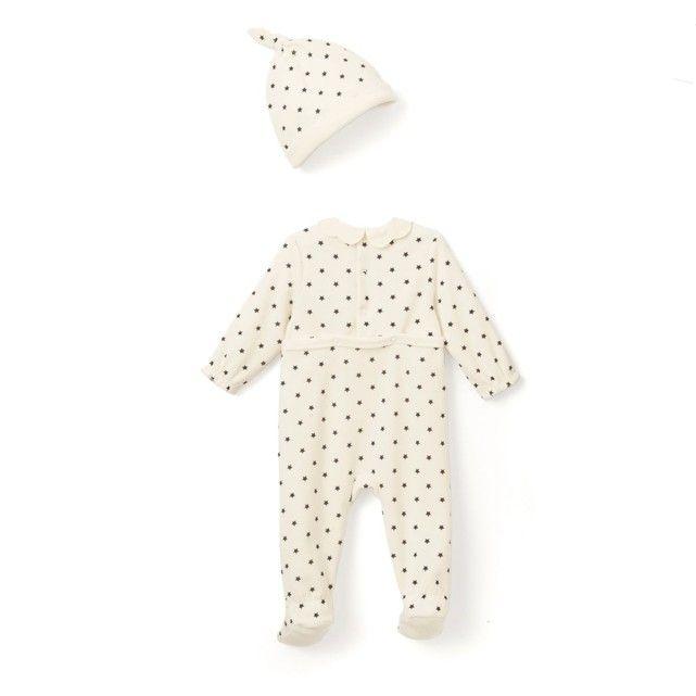 Pyjama Velours + Bonnet U0027u0027étoilesu0027u0027 ...