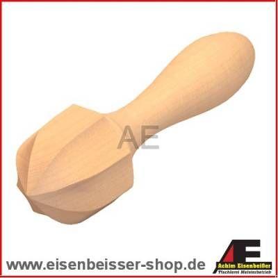 Zitruspresse Holz rund - Orangen Hand-Entsafter - Bild vergrößern