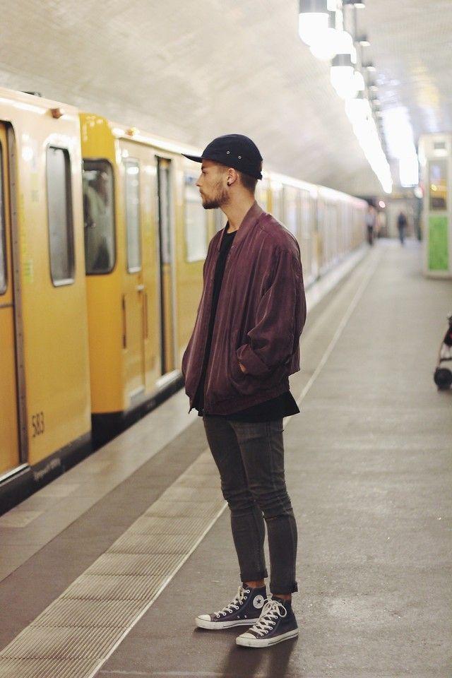 Kevin Elezaj - Converse Shoes, Asos Jeans, Urban Outfitters Jacket, Obey Cap - Preview: Clean #mensoutfitsurban
