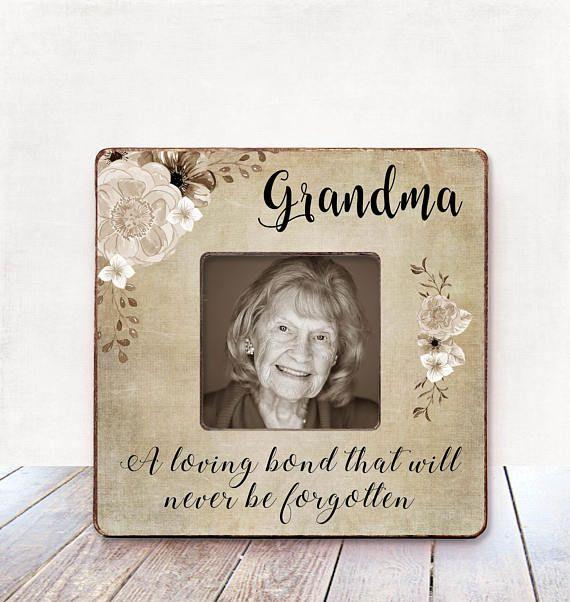 Grandma Memorial frame Sympathy Gift Condolences Gift Memorial ...