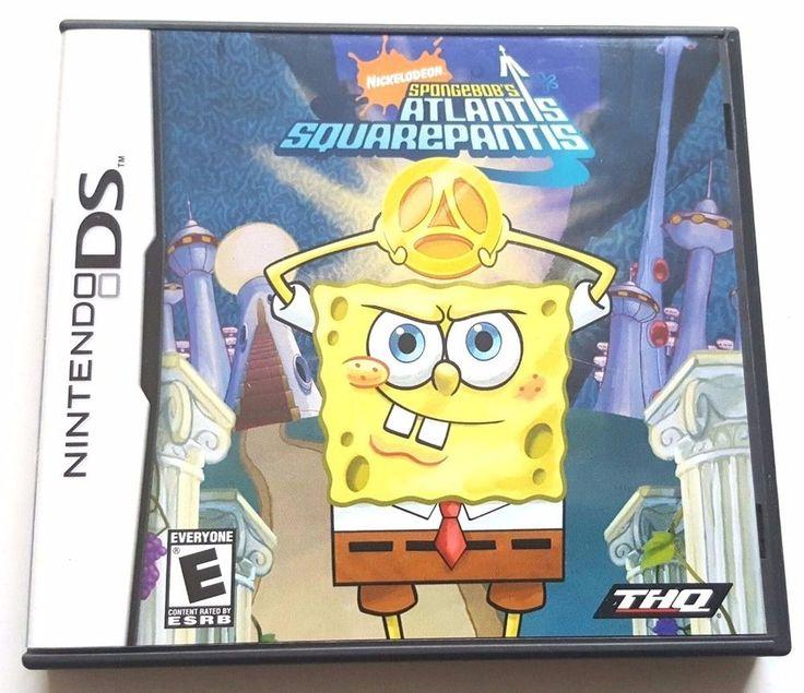 Nintendo DS Dsi Dsl CIB Complete Game SPONGEBOB ATLANTIS SQUAREPANTS
