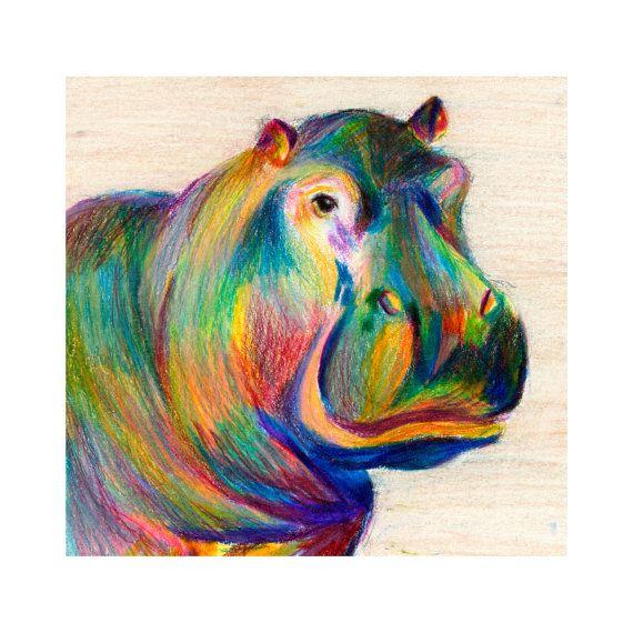 Prisma Color Hippo Drawing
