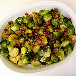 brussel sprouts paired with bacon and raisins | Side Dishes ...