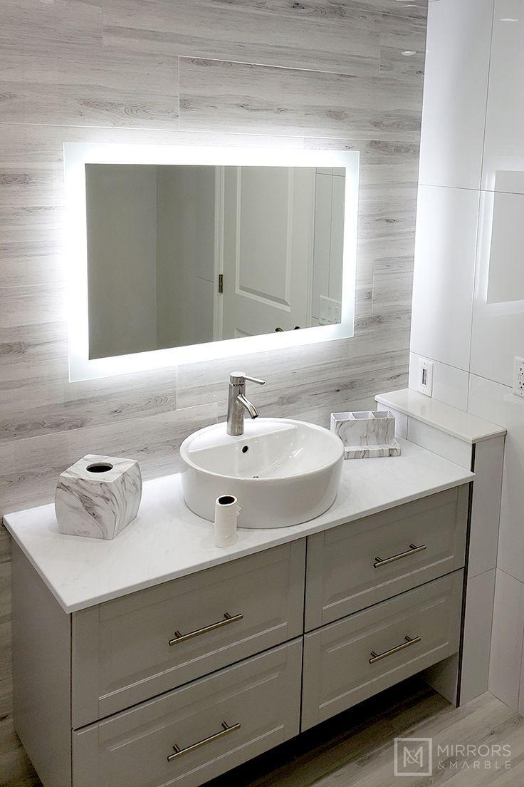 Side Lighted Led Bathroom Vanity Mirror 36 X 24 Rectangular Wall Mounted Kitchengarden Gard Bathroom Vanity Mirror Bathroom Styling Master Bathroom Design [ 1104 x 736 Pixel ]