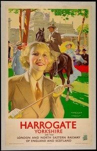 Harrogate Yorkshire on the London and North Eastern railway of England and Scotland (Tourism & traffic posters Great Britain) #Booktower