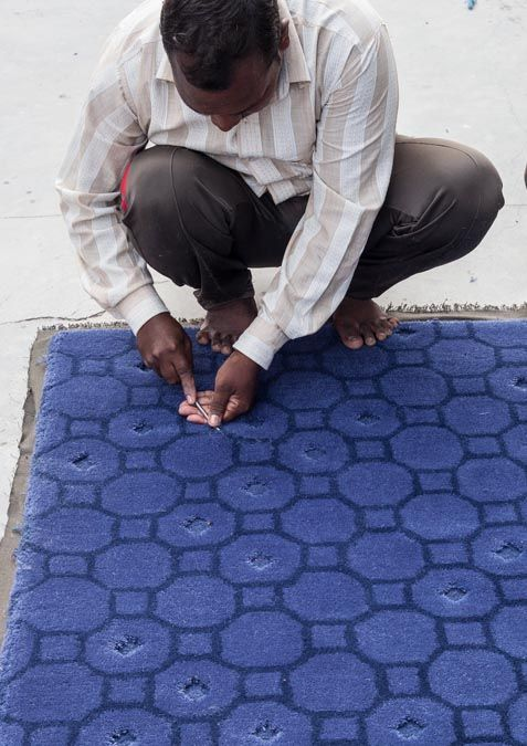 Making of process of Jie Blue designed by Neri & Hu and handcrafted in india by the best artisans.