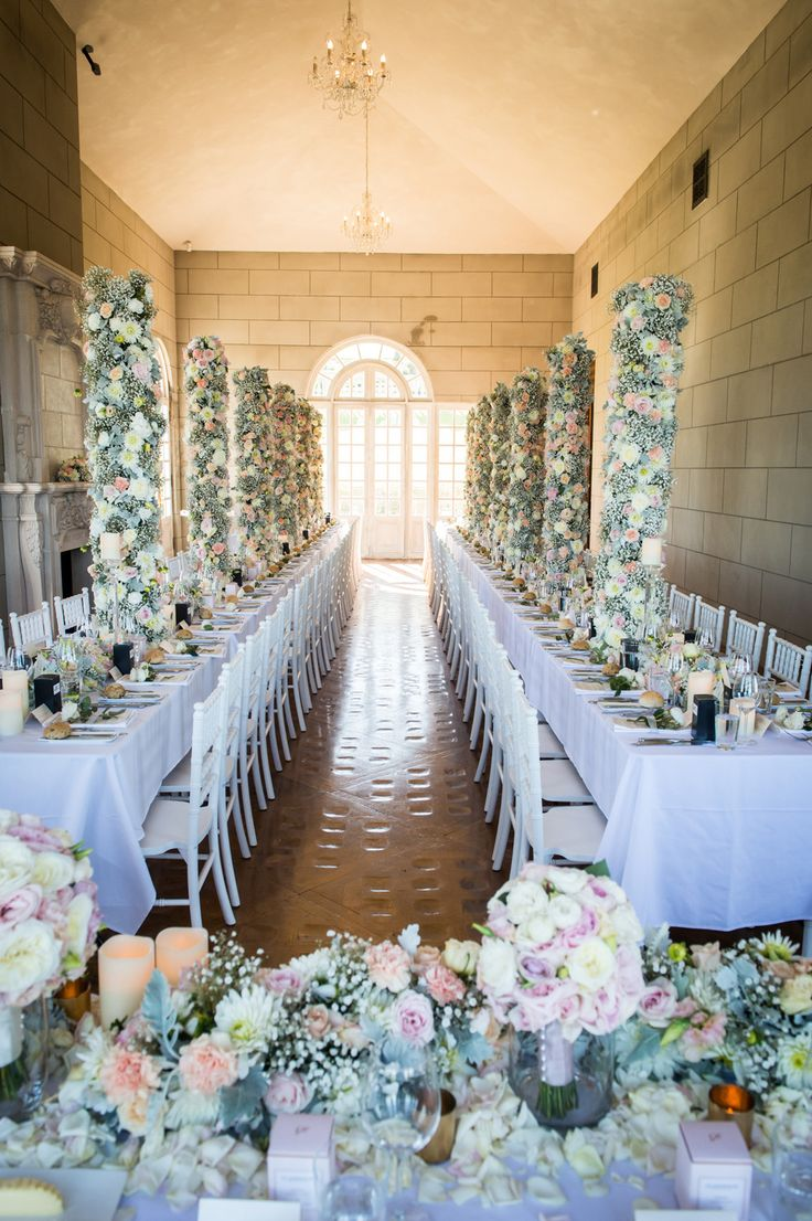 Centrepiece     A mixture of pastel colours and varying heights with a soft touch of candle light     Venue: Campbell Point House      Wedding reception     Wedding centrepiece     Wedding styling     Wedding decor