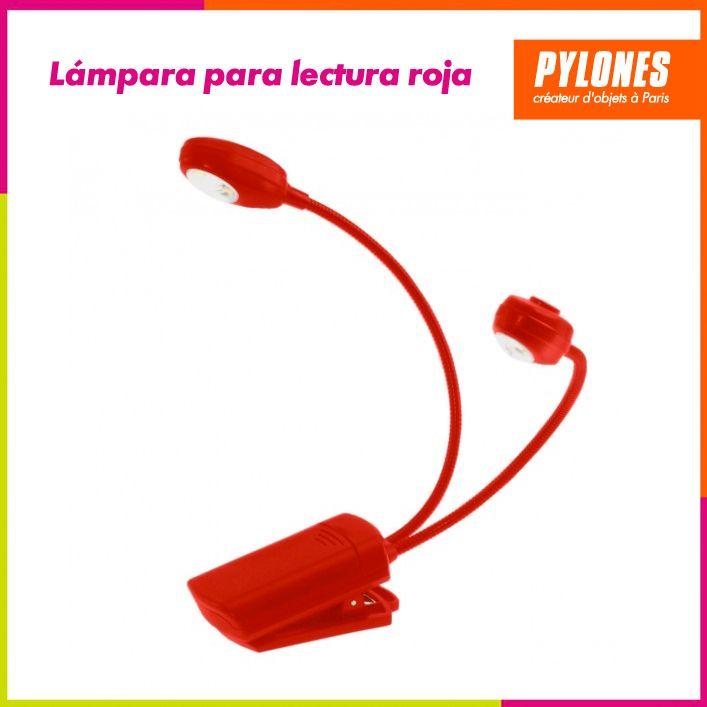Lámpara de lectura roja #Hogar #Casa #Color