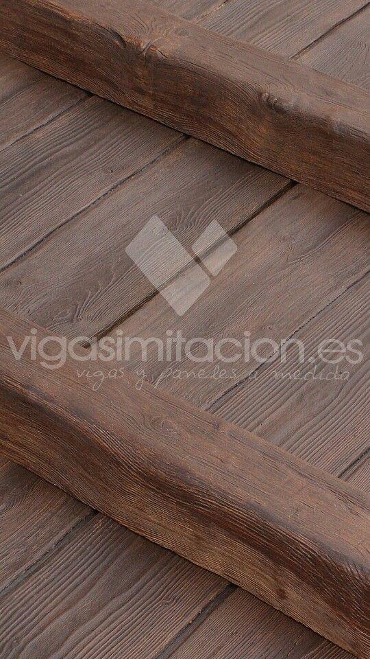 M s de 25 ideas incre bles sobre vigas de madera de - Paneles imitacion madera ...