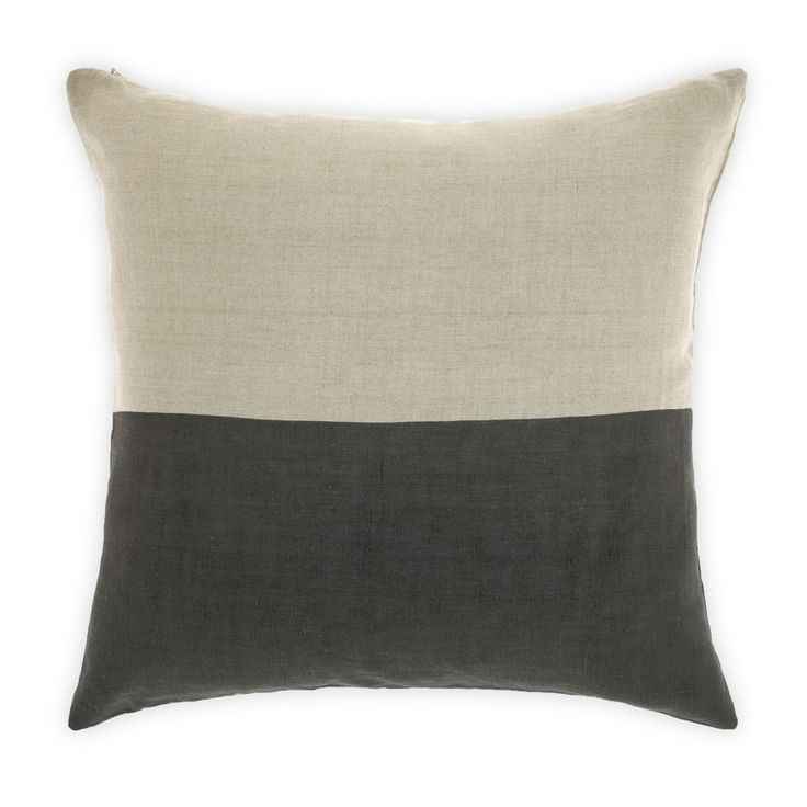 Dipped charcoal cushion - hardtofind.