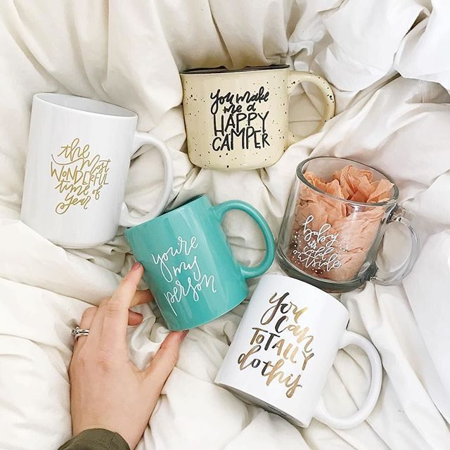 I am coffee mug FIEND! I don't know about you, but I have at least 3 favorite coffee mugs. I pick one for my morning depending on my mood! How about you? : @rachel_allene #Regram via @myzestfullife