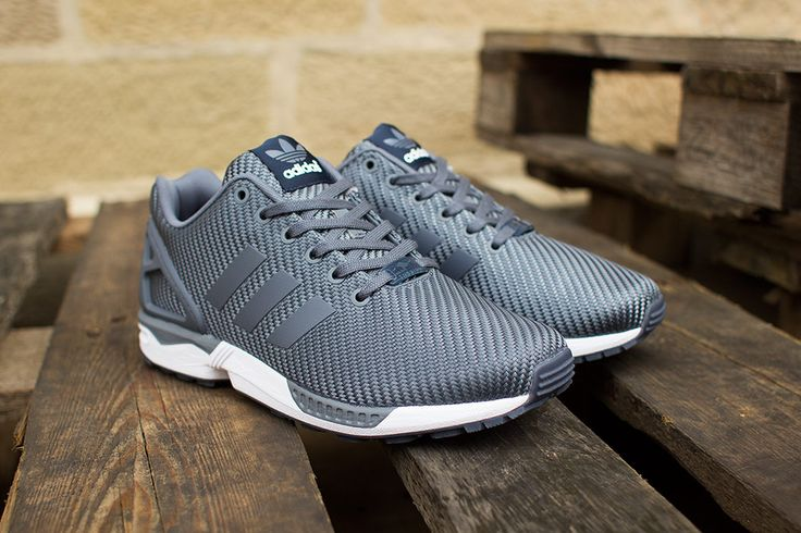 men's grey adidas zx flux trainers e e