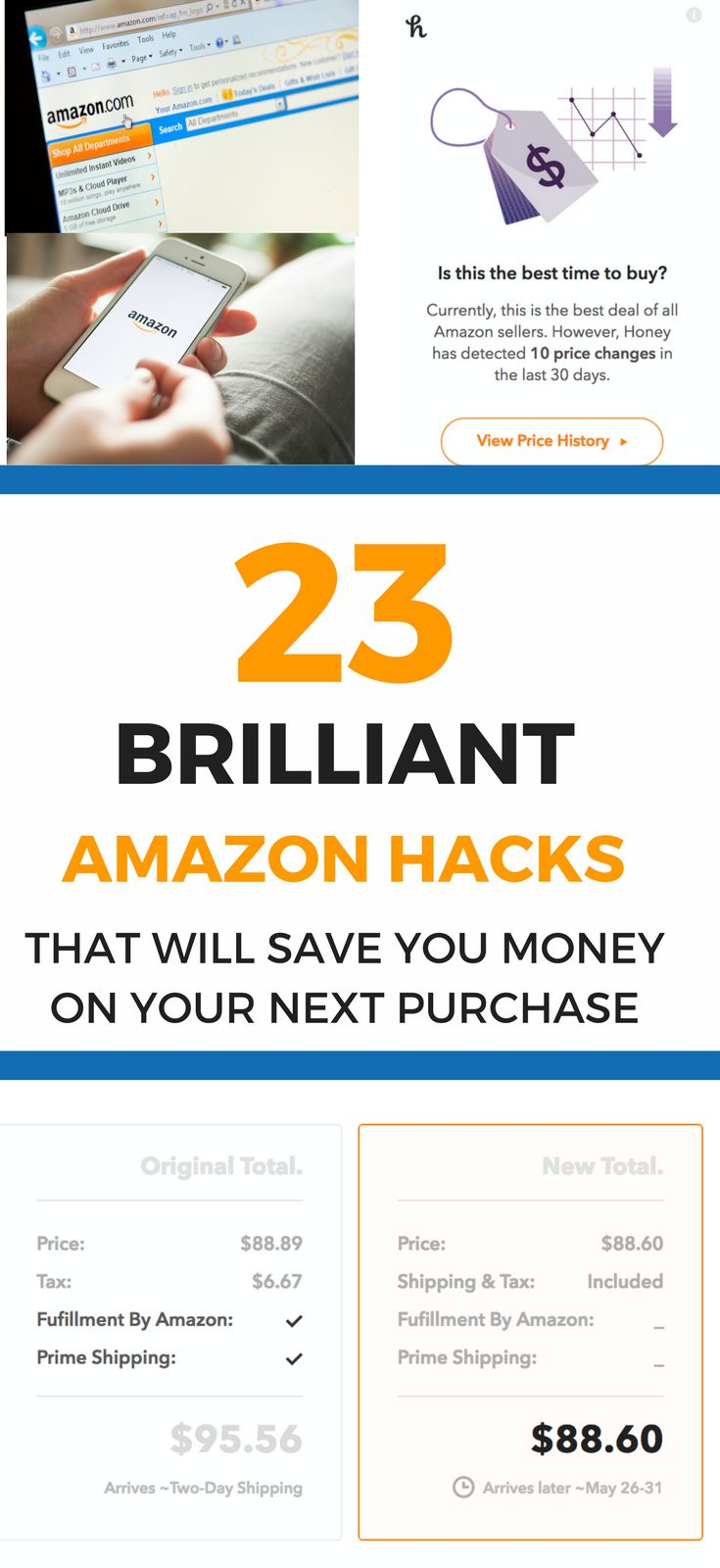 Save money on anything you buy at Amazon with these 23 little-known Amazon hacks that will save you money today!