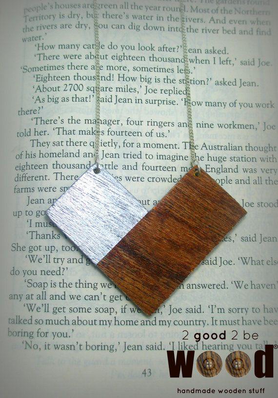Handmade & Handpainted Wooden Geometric / Minimal Necklace