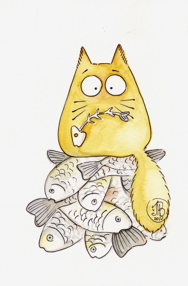 Добрым утром, картинки смешных кошек для срисовки