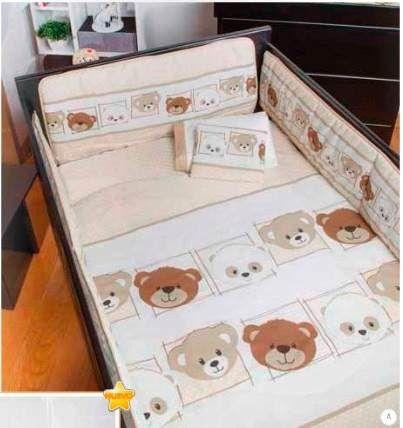 set de edredon para cuna de bebe little bears ositos recamar