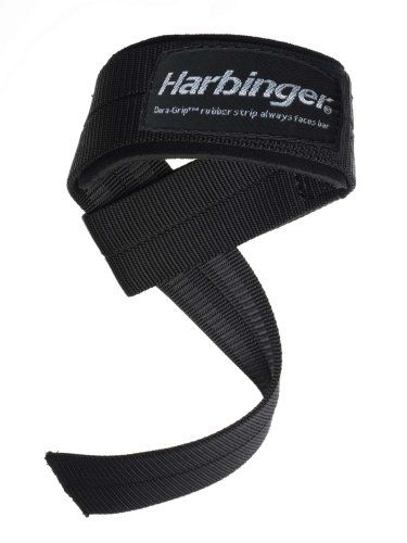 "Harbinger Big Grip No-Slip Nylon Lifting Straps with DuraGrip (Pair), Padded - Harbinger 20500 Big Grip ""no-slip"" Padded Nylon Lifting Straps are built for the serious heavy duty lifter."