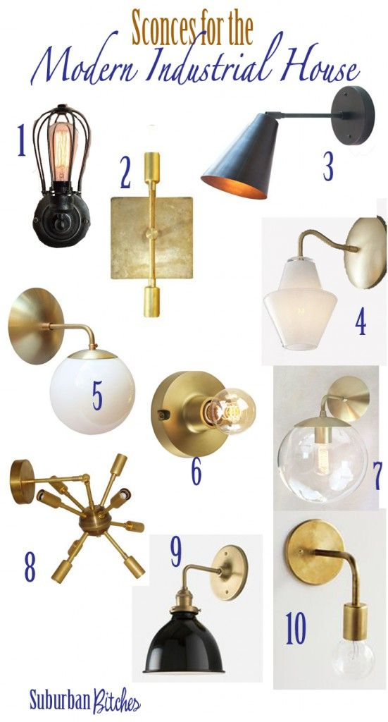 Wall sconces for the modern industrial home // suburban bitches
