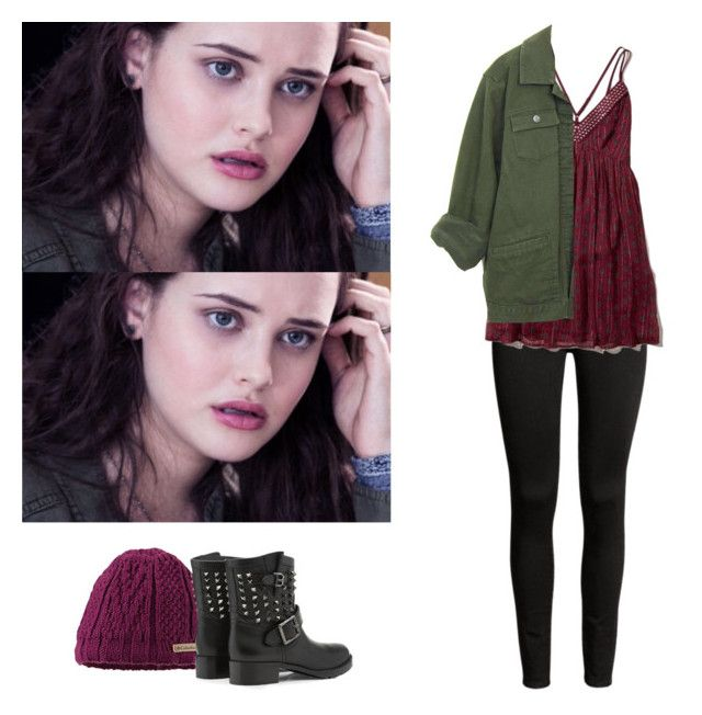"""""""Hannah Baker - 13 reasons why / 13 rw"""" by shadyannon ❤ liked on Polyvore featuring Valentino and Hollister Co."""