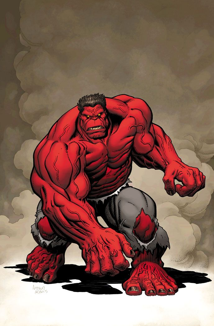 """THUNDERBOLT ROSS/RED HULK … For years, General Thaddeus """"Thunderbolt"""" Ross was in charge of a military unit known as the Hulkbusters. To further complicate matters, his only daughter Betty was deeply in love with Bruce Banner, the Hulk's more mild-mannered human identity. After unsuccessfully pursuing the Hulk for years, losing his daughter in the process, Ross finally decided it was time to take things to the next level."""