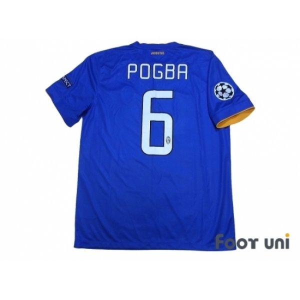 brand new 82a39 e1c12 Juventus 2014-2015 Away Shirt #6 Pogba Champions League ...