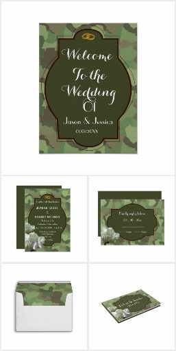 Army Themed Wedding party invitation and celebration. #army_wedding #elegant_army #wedding #zazzle #invitations