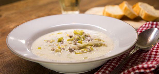 Käse-Lauch-Suppe mit Hackfleisch | Rezepte | Soup, Soups, stews und ...