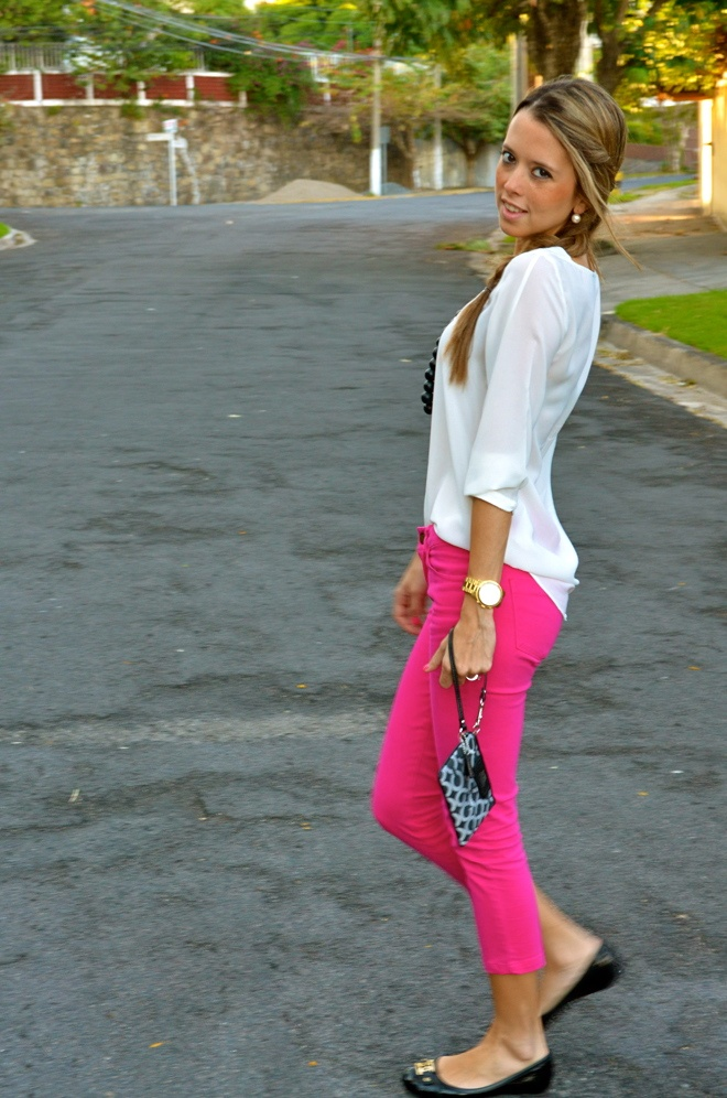 Hot pink pants | Outfit Ideas | Pinterest | Ankle pants ...