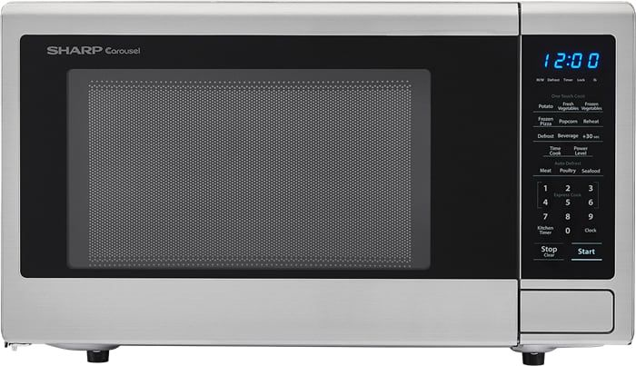 Sharp SMC1132CS 1.1 cu. ft Countertop Microwave with Express Cook, Auto Defrost, LED Display, 10 Power Levels and 1000 Watts