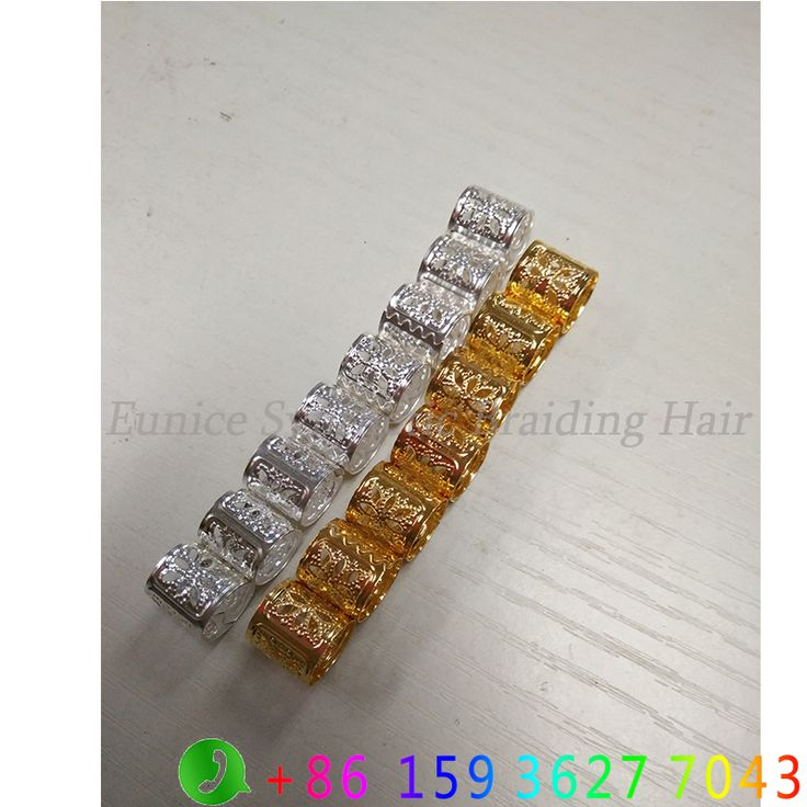 1000 Pcs/Lot 2000 Pcs/Lot #Golden #Silver Mixed Dreadlock Beads Adjustable Hair Braids Cuff Clip 8MM Hole Micro Ring Beads