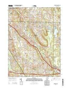 ~ Twinsburg OH topo map, 1:24000 scale, 7.5 X 7.5 Minute, Historical, 2013