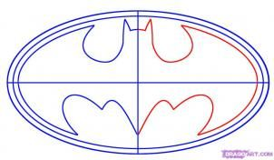 How to Draw Batman Logo, Step by Step, Dc Comics, Comics, FREE Online Drawing Tutorial, Added by Teton, November 30, 2007, 9:55:01 am