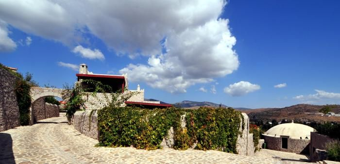 The local flora flourishes through the site with the exceptional climate of Bodrum.  http://www.yarbasanevleri.com/index-en.php
