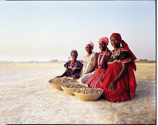 Eudofano Women with Baskets of Marula Kernels