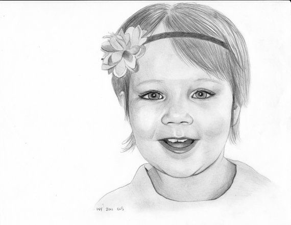 $100.00 Perfect Mothers Day Gift, Custom Pencil Portrait from photograph, 8x10, graphite, children, gift