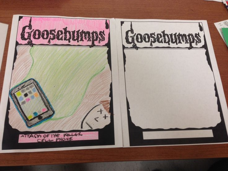 Book Cover Craft Template : Design your own goosebumps cover party